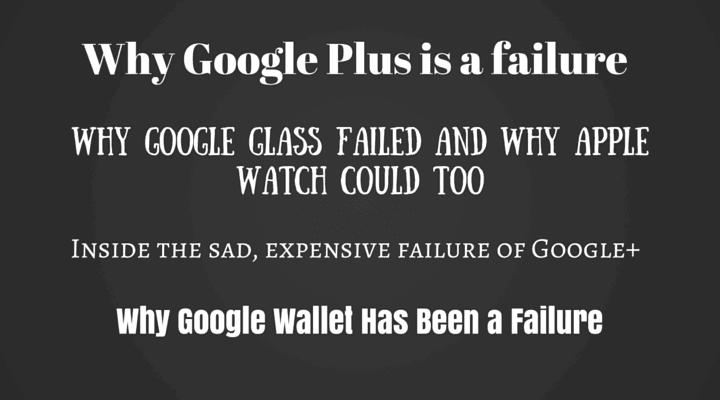 why google plus is a failure
