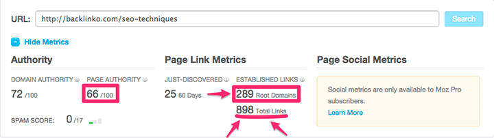 external links of backlinko