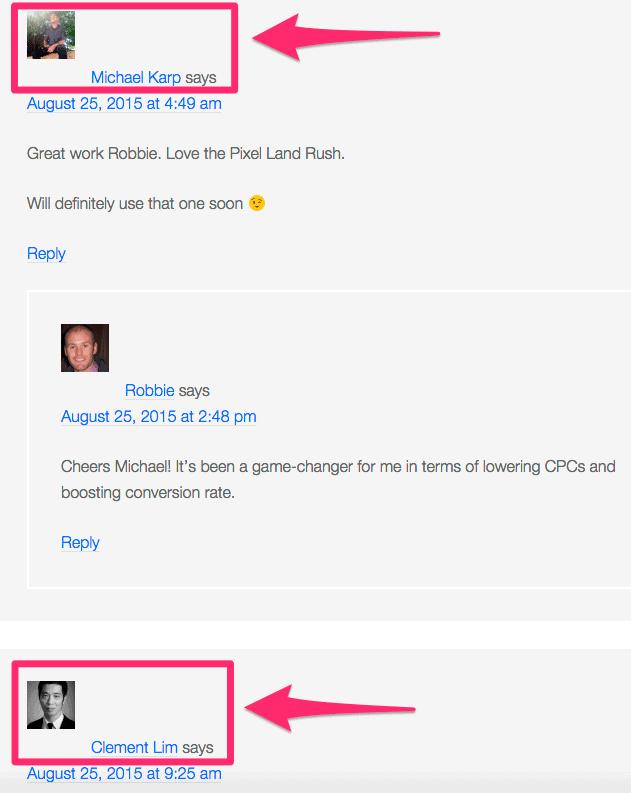 Robbie Richards commenters