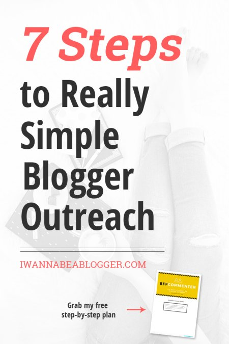 7 Steps to Really Simple Blogger Outreach. Click to read my blogger outreach case study.