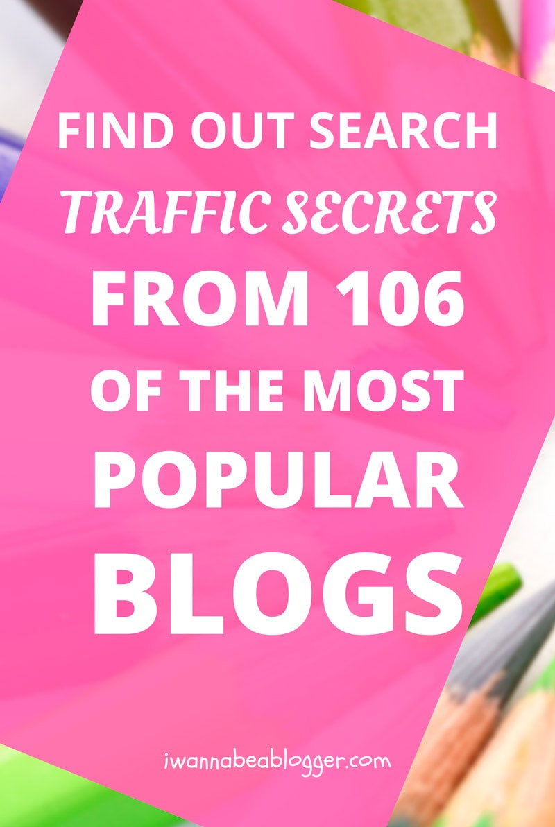 Search Traffic Statistics Revealed: 106 Blogs With the ...