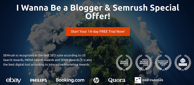 Semrush 14-day free trial